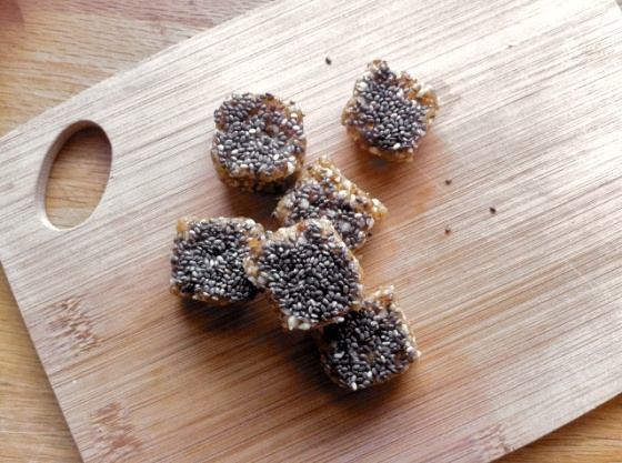 Chia Almond Date Bars