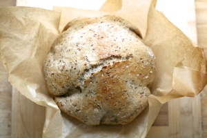 Whole Wheat Flax Bread ++ the pear and plum